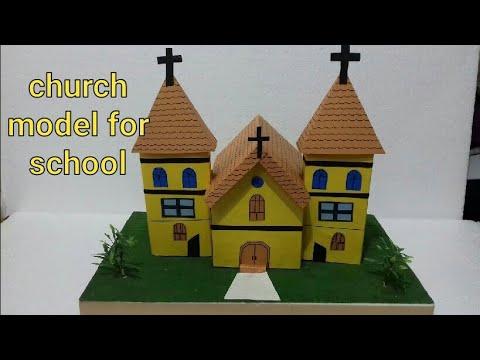 Church Model Church Building Making Ideas Using Card Board Church Youtube
