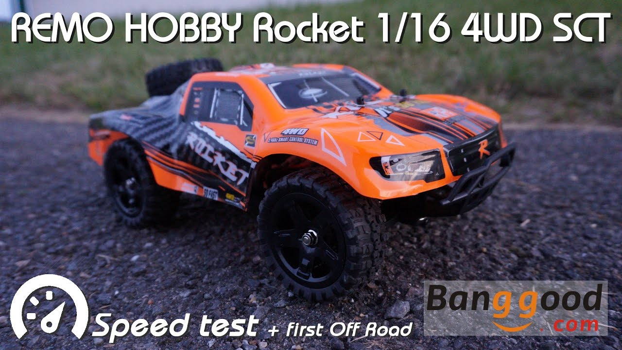 • REMO HOBBY - Rocket 1/16 4WD SCT - Speed Test •