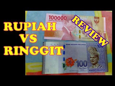 Uang Malaysia Ringgit VS Uang Indonesia Rupiah Baru