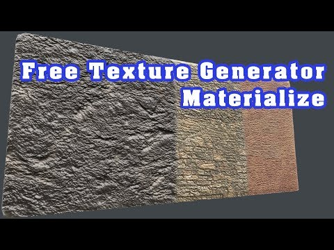 Free Texture Material Generator! (Materialize)