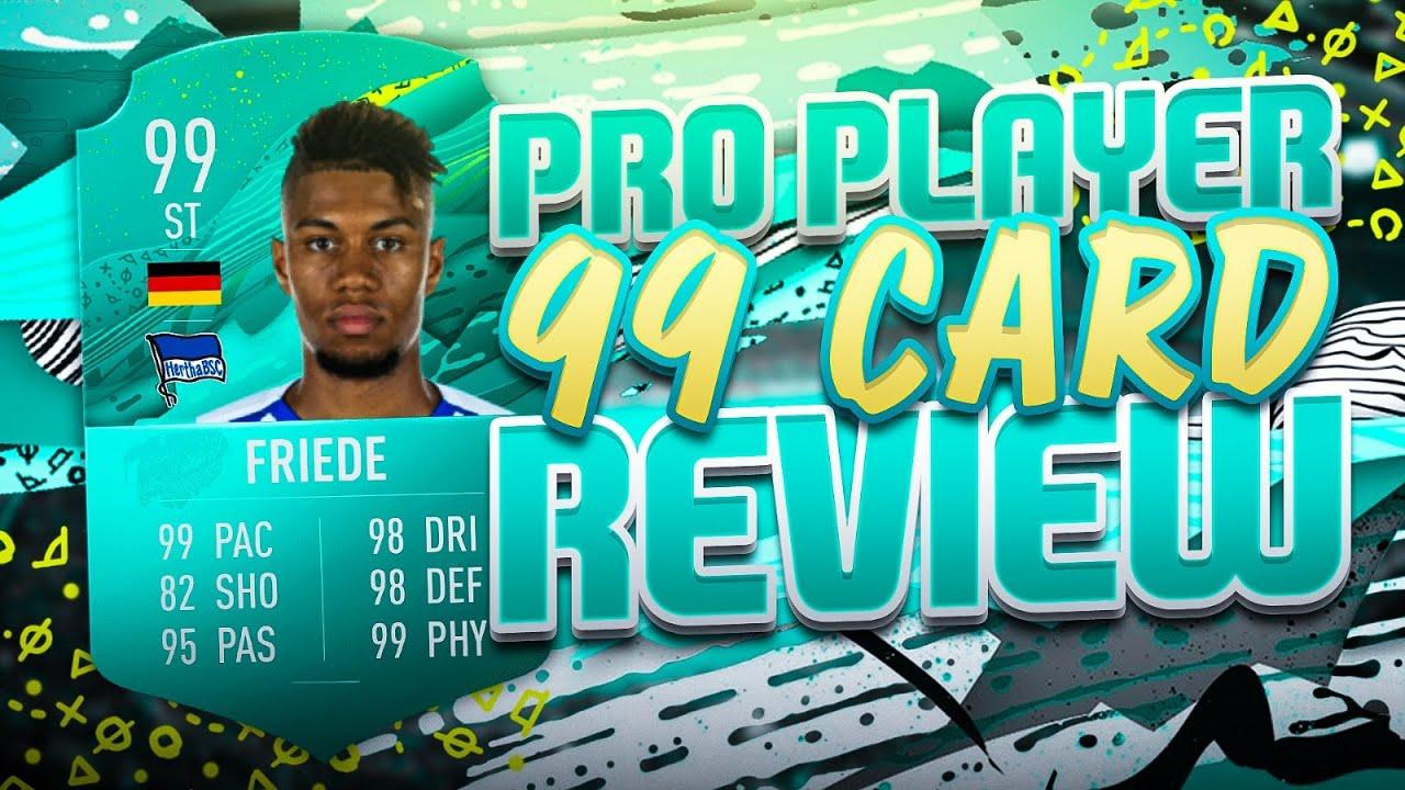 fifa 20 99 pro player card review mit fußballprofi 🔥 🔥