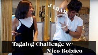 Tagalog Challenge with Nico Bolzico | Laureen Uy