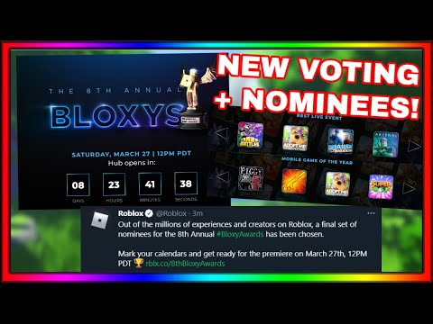 NEW! ROBLOX 2021 BLOXY AWARDS NOMINEES + VOTING!