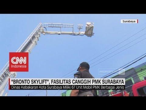 """Pertama di Indonesia, """"Bronto Skylift"""" Fasilitas Canggih milik PMK Surabaya"""