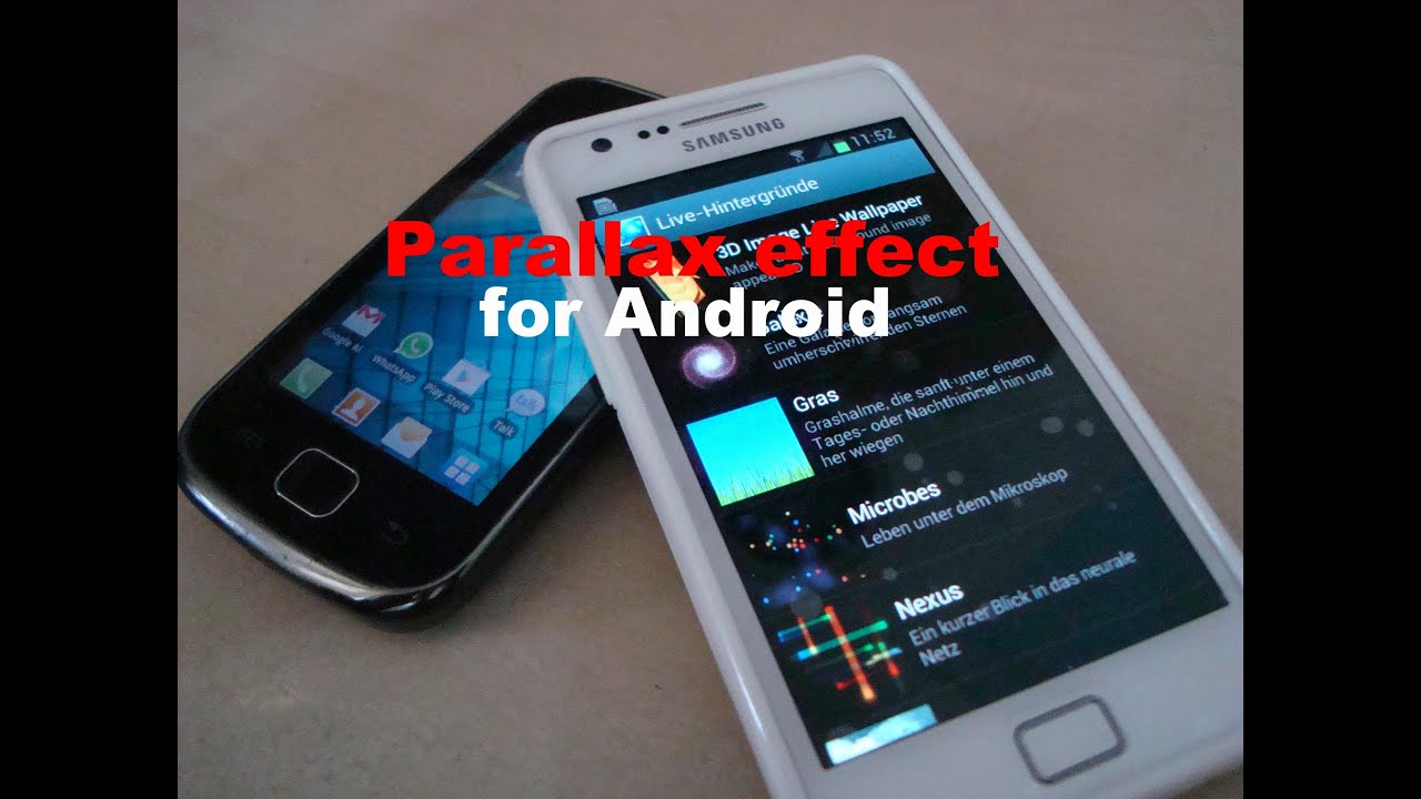 parallax effect for android devices 3d image live wallpaper