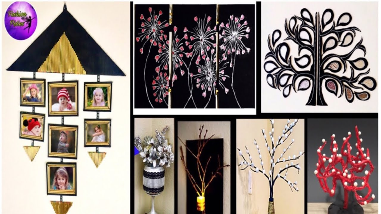 7 Waste Material Crafts Ideas Diy Room Decor Do It Yourself Fashion Pixies Youtube