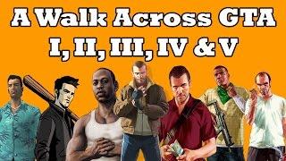 A Walk Across GTA I, II, III, IV & V Timelapse