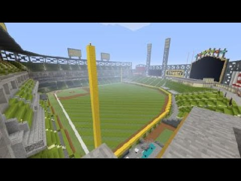 Guaranteed Rate Field built in Minecraft