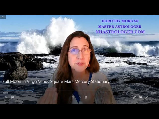 Full Moon in Virgo Venus Square Mars Mercury Stationary