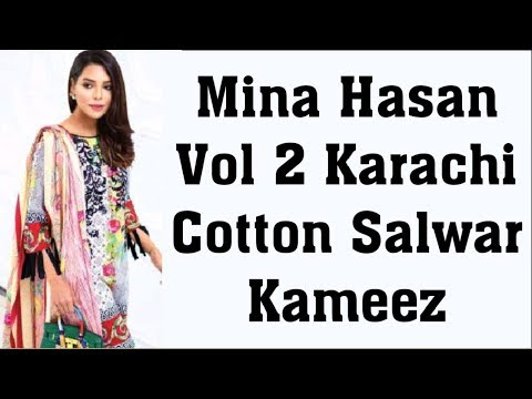 7c9699deca Mina Hasan Vol 2 Karachi Cotton Salwar Kameez - YouTube