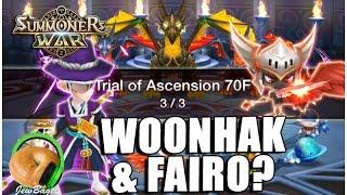 SUMMONERS WAR: Woonhak & Fairo TOA Hard (Dark Taoist, Fire Imp Champion)