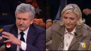 Le Pen e D'Alema: confronto-scontro su Europa ed euro
