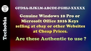 Buy or Not - Genuine License Keys for Windows or Microsoft Office from ebay or websites for cheap