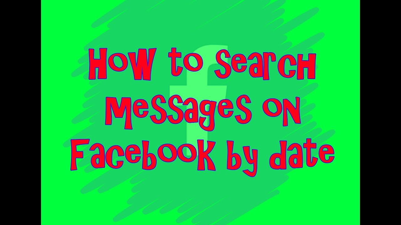 Find a date on chat facebook specific to how How To
