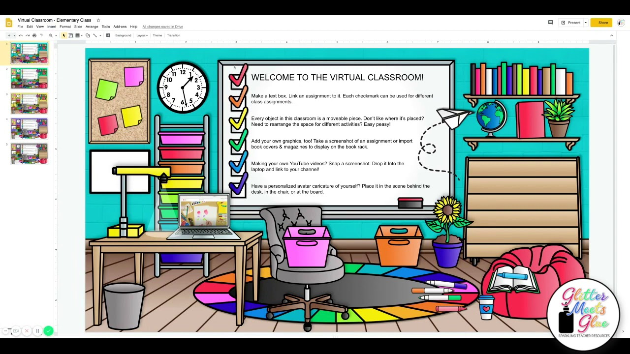Virtual Classroom Templates for Teachers