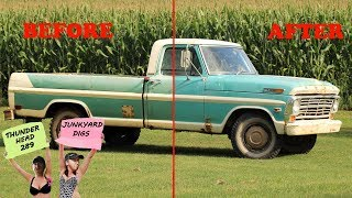 """We """"WASH"""" the Barn Find F250 after 10+ years!! (AND We shouldn't have - no really LOL)"""