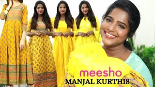 Daily Wear Manjal⭐Kurthis From Meesho! From 350/-Affordable Good Quality Collection Haul-Tamil screenshot 3