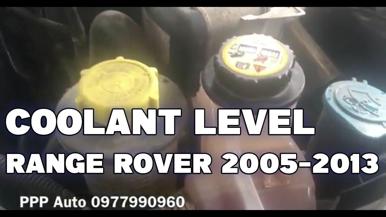 2004 range rover check coolant level