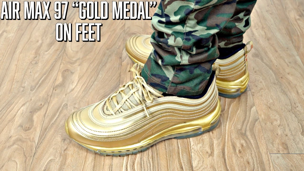 Nike Air Max 97 Gold Medal 2020 On Feet Youtube