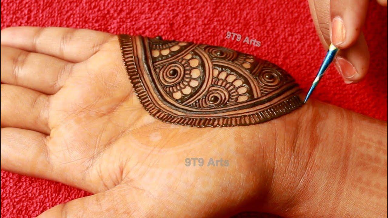 bridal palm mehndi designs