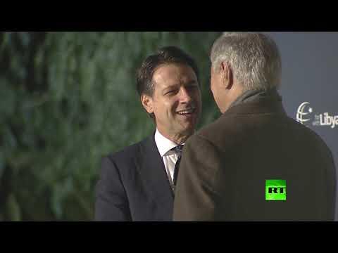 لحظة لقاء خليفة حفتر مع رئيس وزراء إيطليا جوزيبي كونتي  - نشر قبل 3 ساعة