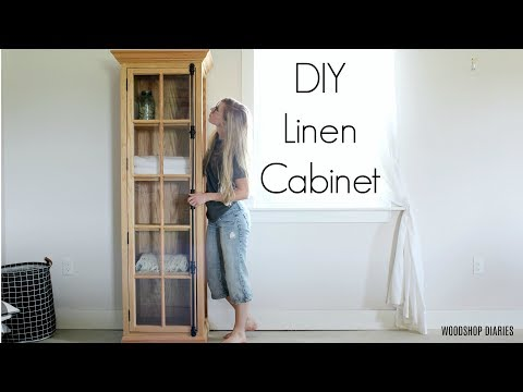 How to Build a DIY Linen Cabinet with Glass Door