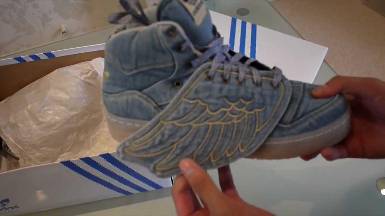 on sale 11d06 dbb74 Adidas Jeremy Scott Denim Wings