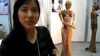 Environmentally-friendly Cardboard Mannequin Robots at International Robot Exhibition 2009