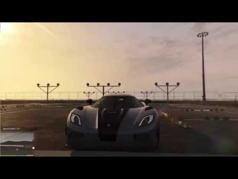 gtav pc 0-100 kmh - pagani huayra & agera r - youtube