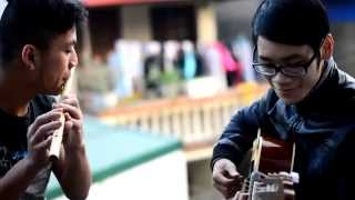 Tình yêu màu nắng - sáo trúc guitar - Tiêu du ft boong acoustic.!