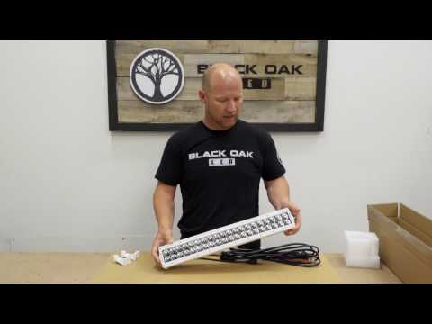 Marine Series unboxing high-quality double row led light bar- Black Oak LED