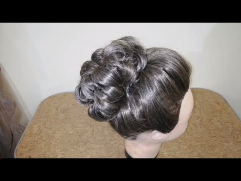 Wedding High Bun Hairstyle. Bridal Updo For Long Hair Tutorial / Latest High Bun Hairstyle Tutorial