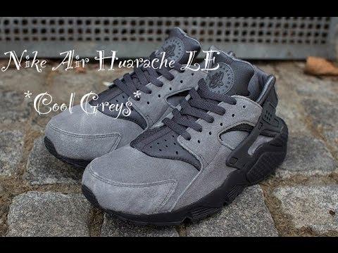 nike air huarache cool grey