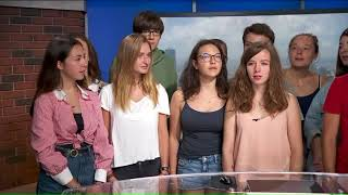 """Bonjour Chicago play """"Know Your World History"""" game show on WGN Morning News"""