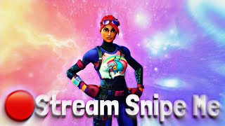 🔴*LIVE* STREAM SNIPE ME and get a shoutout ~ FORTNITE LIVE STREAM [PS4] Solo Snipes