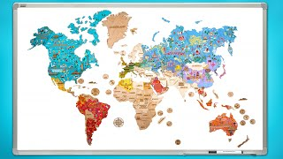 Assemble A Colorful Wooden World Map || Art & Craft