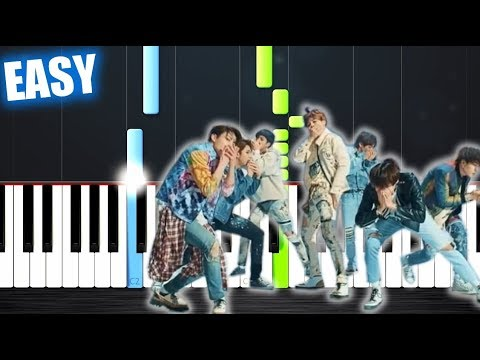 BTS 방탄소년단 &39;FAKE LOVE&39; - EASY Piano Tutorial by PlutaX