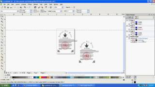 How to show hidden object over desktop layer in corel draw