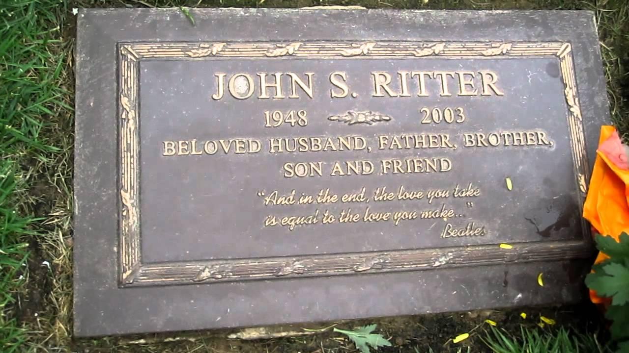 John Ritter S Gravesite Youtube