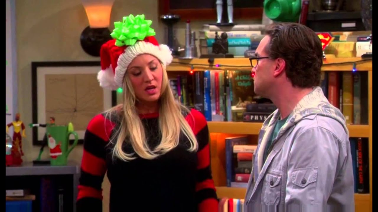 Penny gives Leonard his Christmas gift - YouTube