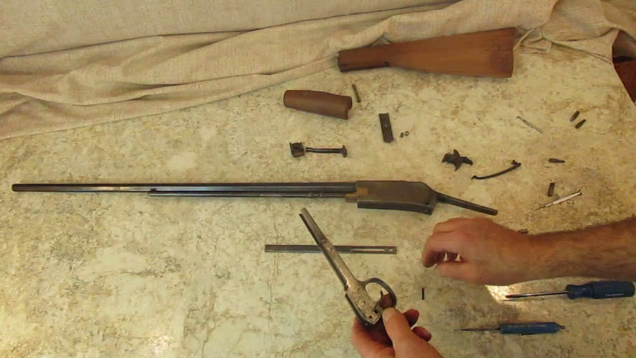 small resolution of colt lightning 22 small frame pump rifle tear down made easy
