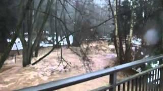 Hochwasser an der Sauer