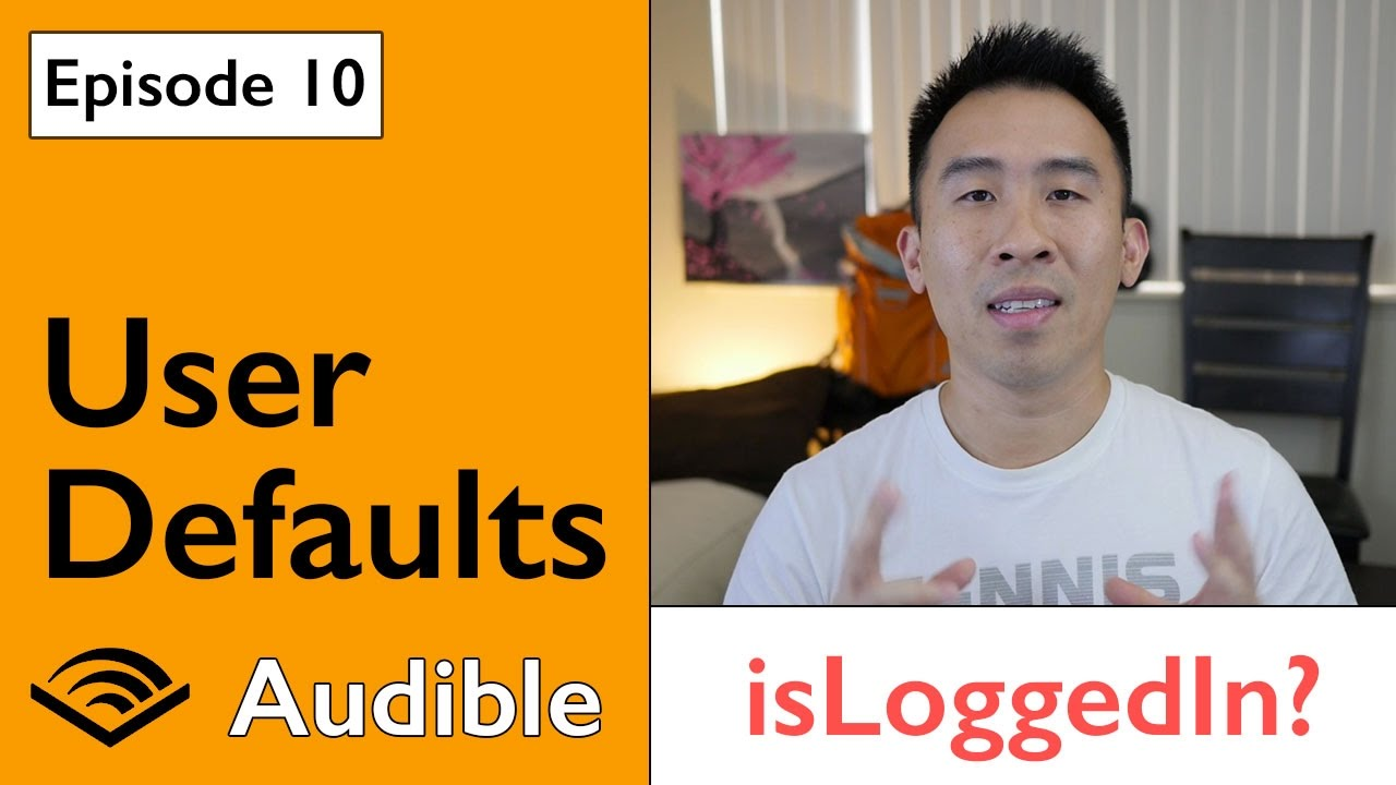 Swift 3: Audible - UserDefaults to Save Logged In State (Ep 10)