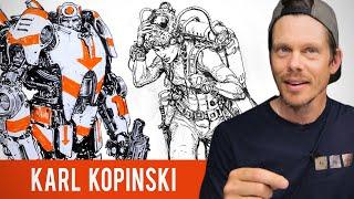 Karl Kopinski Sketchbook Tour - Filling up 5 Sketchbooks a Year thumbnail