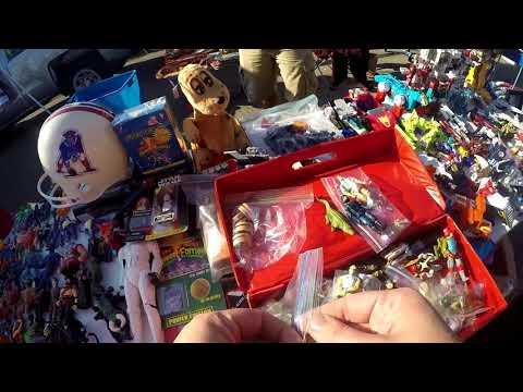 Live Retro Toy Hunting Episode #9 Flea Market Finds.... GI Joe, Transformers, Voltron....