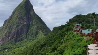 View from restaurant at Ladera Resort in Soufriere, St Lucia Video
