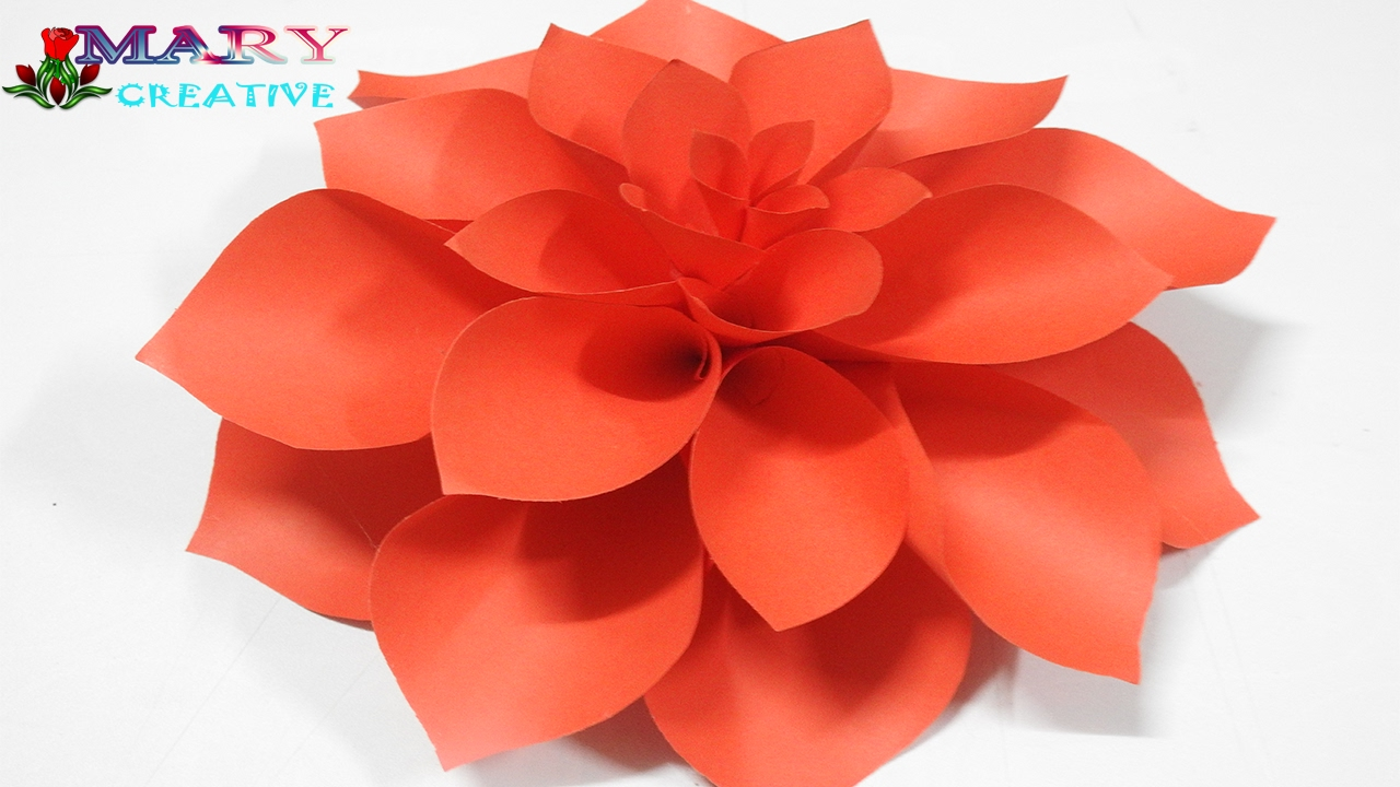 Mary creative origami 14 paper dahlia flower diy for How to make something creative with paper