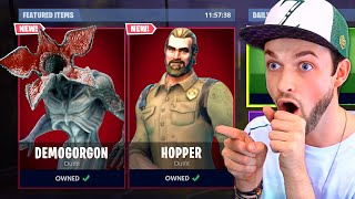 *NEW* STRANGER THINGS skins in Fortnite!