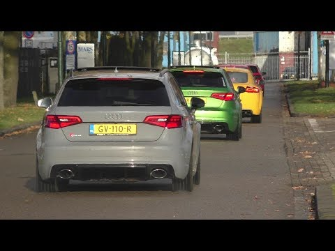 AUDI RS3 & TTRS MEETING | 5 CYLINDER SOUNDS | Pops and Bangs | LAUNCH CONTROL, REVS & MORE