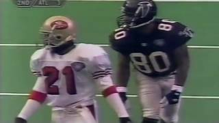 *Ultra Rare VHS* Deion Sanders Fights Andre Rison and Touchdown Interception (49ers vs.  Falcons)
